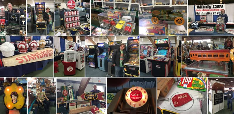 Windy City Coin Op & Antique Advertising Spring Show April 17, 18, & 19, 2020