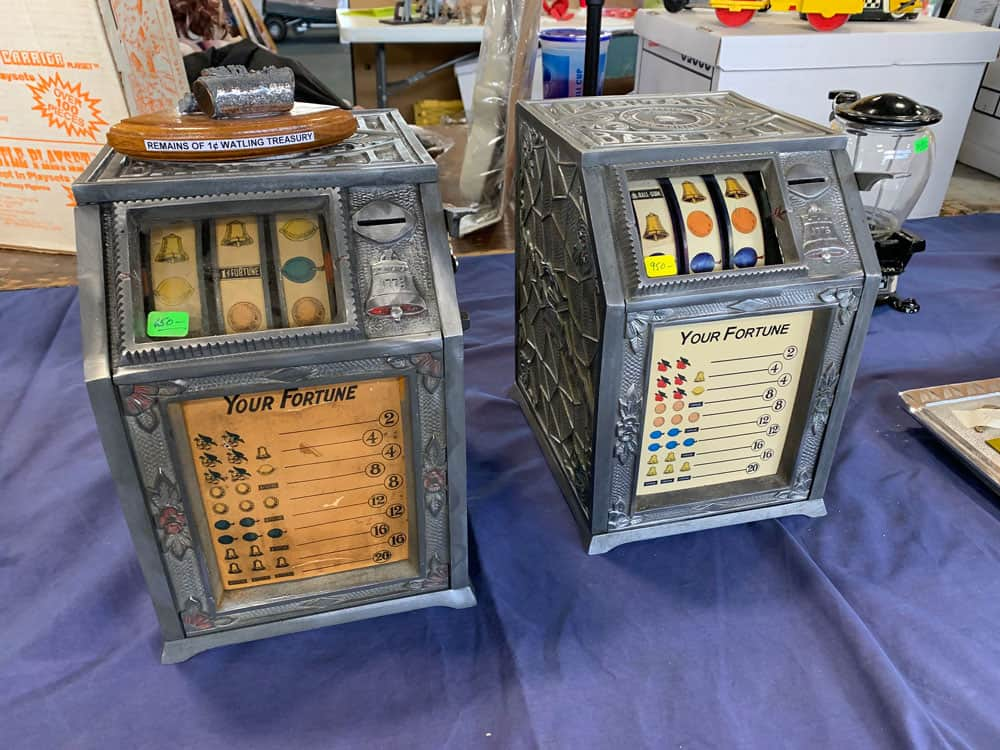 Coin Op, Slot Machine, Antique Advertising Show