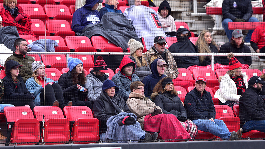 Tech Baseball Freezing Crowd