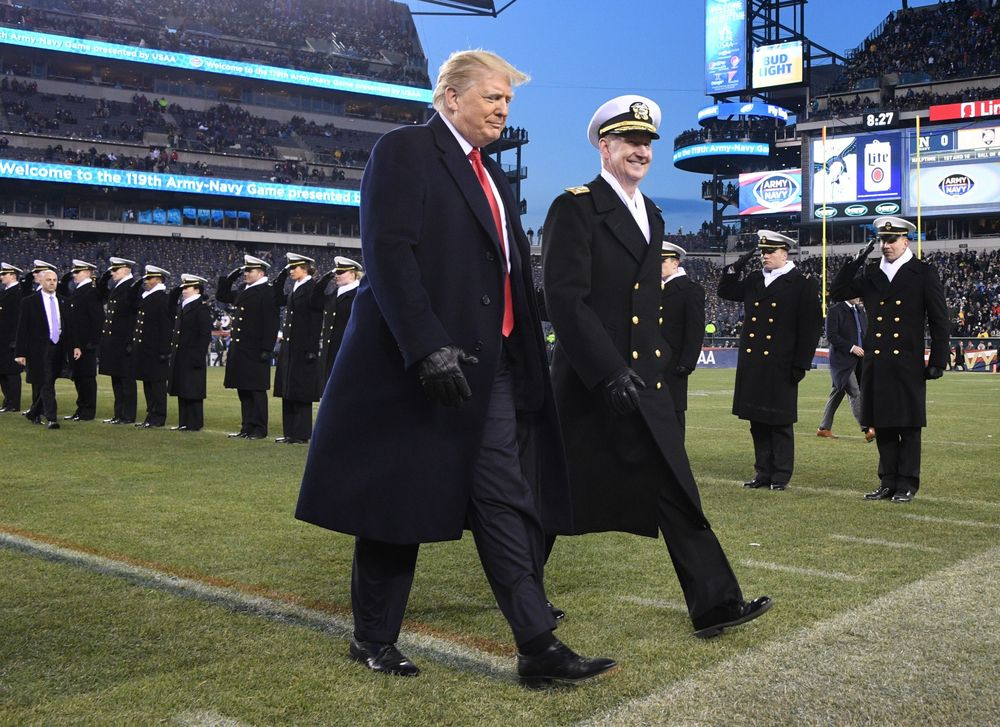 Trump army navy game