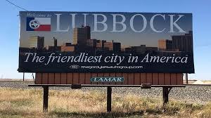 Lubbock Friendliest City Billboard