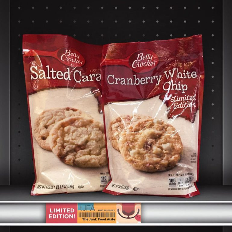 Betty Crocker Salted Caramel and Cranberry White Chip Cookie Mix