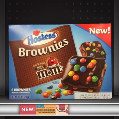 Hostess Brownies made with M&M's