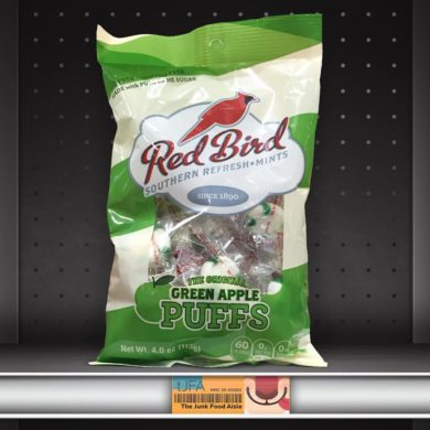 Red Bird Green Apple Puffs