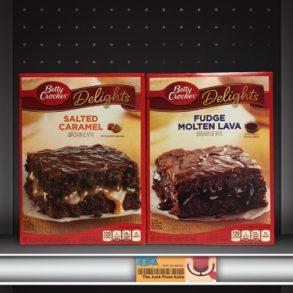 Betty Crocker Delights Salted Caramel & Fudge Molten Lava Brownie Mixes