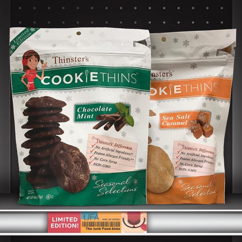 Thinster's Chocolate Mint & Sea Salt Caramel Cookie Thins