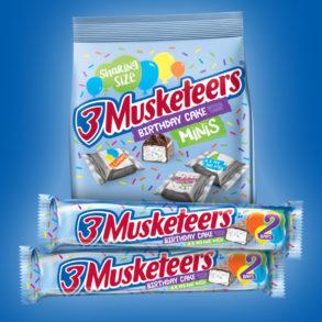 Coming Soon! Birthday Cake 3 Musketeers