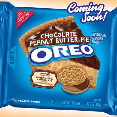 Coming Soon: Chocolate Peanut Butter Pie Oreo