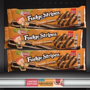 Keebler Chocolate Caramel Fudge Stripes Cookies
