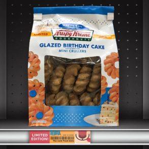 Krispy Kreme Glazed Birthday Cake Mini Crullers