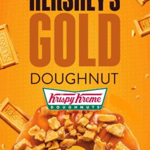 Krispy Kreme Hershey's Gold Doughnut