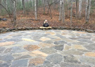 Terry at the Outdoor Meditation Patio