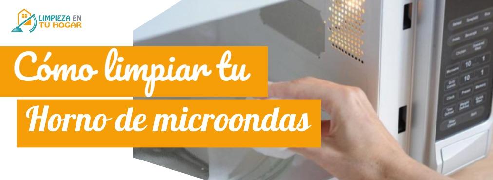 Limpia horno de microondas de forma rápida