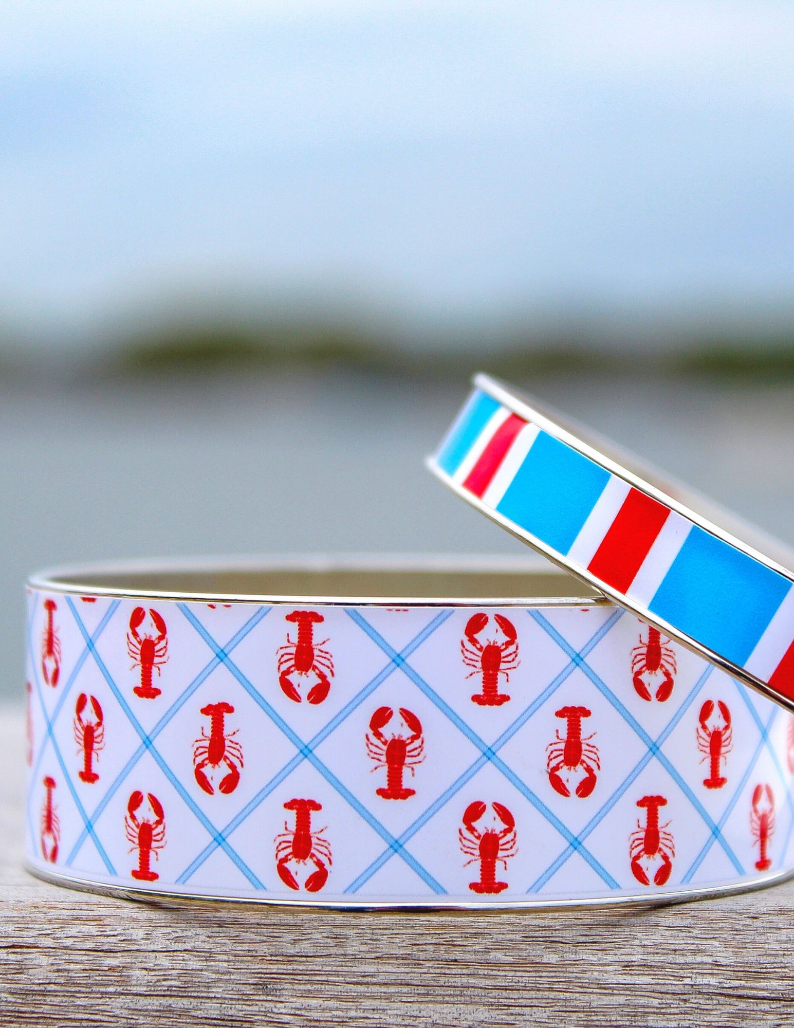 Stack em high with kimprints Collection preppy bangle stacks