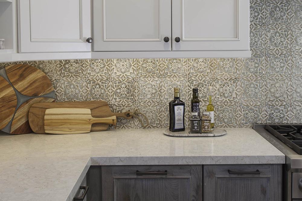 Point Loma kitchen counter & backsplash