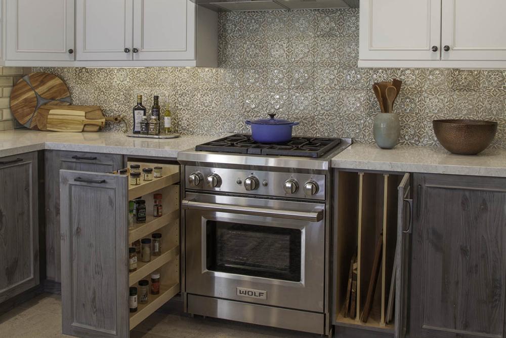 Point Loma kitchen hidden storage