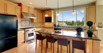 modern kitchen space