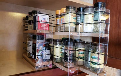 pull out shelf spice rack