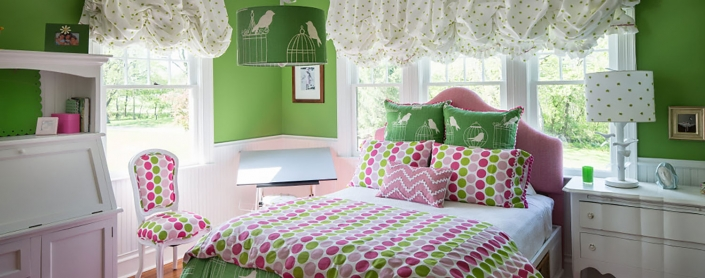 Green Bedroom - Lakeside Living Design