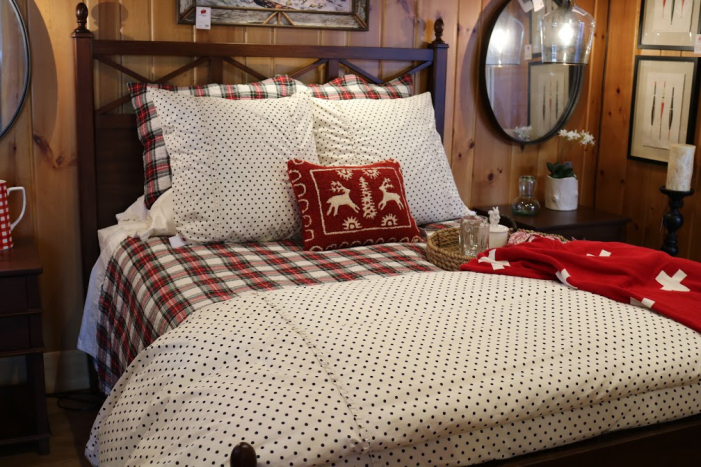 red white plaid bedspread pillows fresh spring cabin pillows 54545