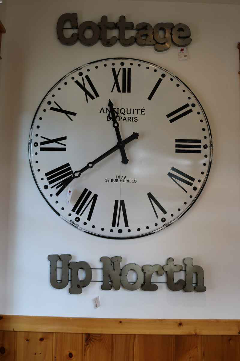 decorative wall art clock northwoods wi 54545