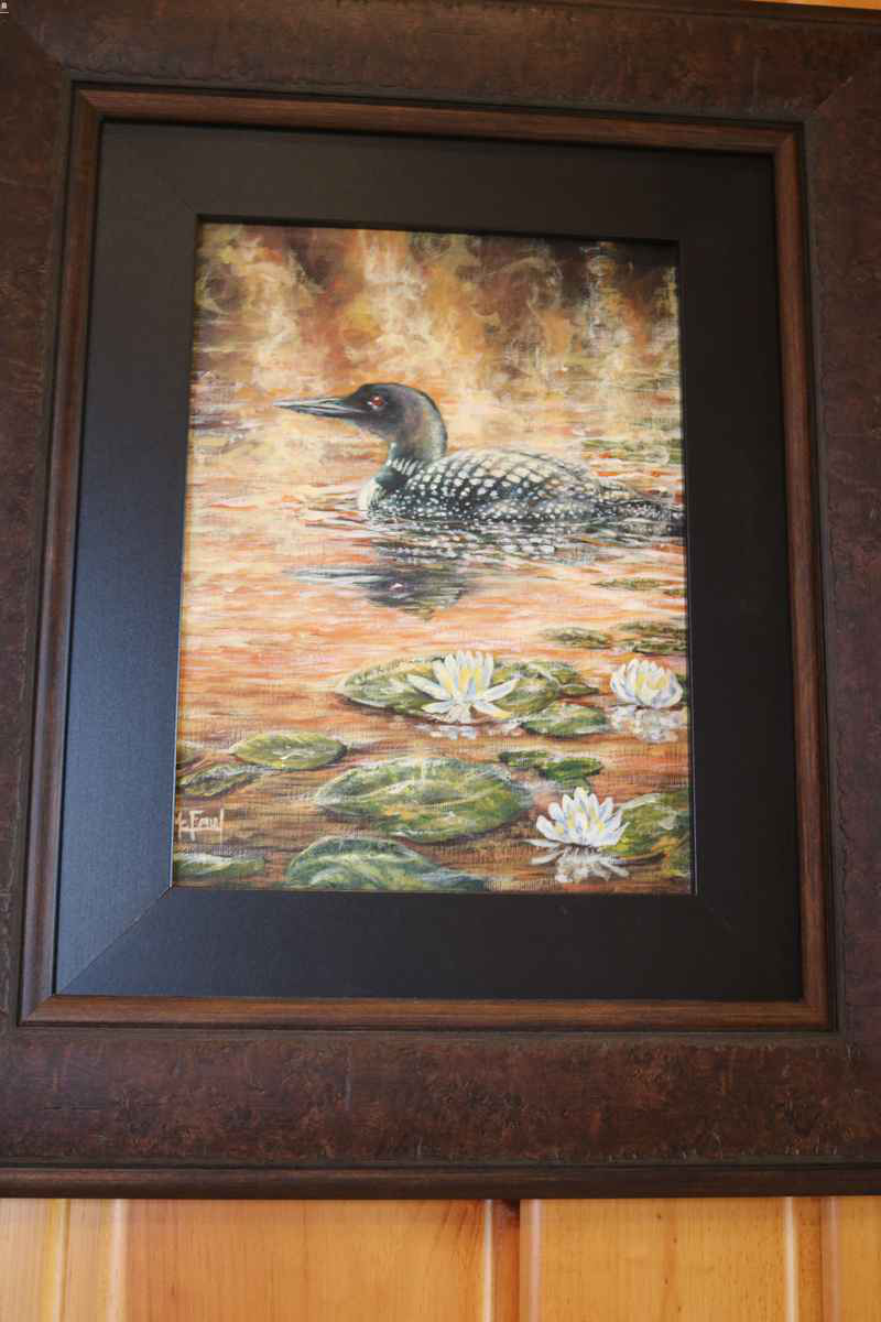 northwoods wi 54545 lakeside living cabin art ideas loon painting oil canvas