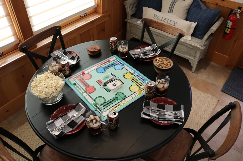 Lakeside-Living_Manitowish-Waters-WI_5-Easy-Ways-to-Liven-Up-Your-Indoor-Entertainment_Game-Night_Place-Settings_Dining-Table