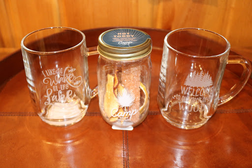 Hot Toddy kit in mason jar with two glass mugs Manitowish Waters WI