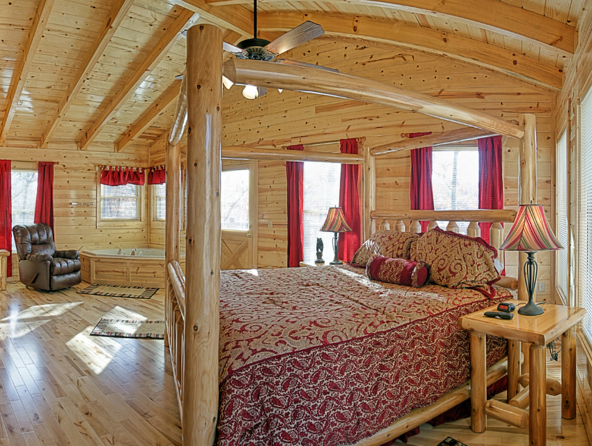 Lakeside-Living_Manitowish-Waters-Wisconsin_Northwoods-Interior-Design_Ready-to-Beautify-Your-Windows_Our-Team-is-Here-to-Help_Draperies-in-Cabin-Bedroom