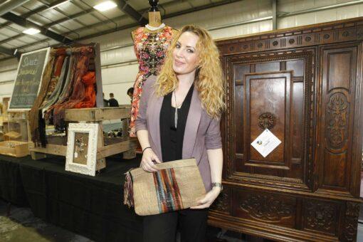 shopping for antiques at Grayslake, Illinois flea market