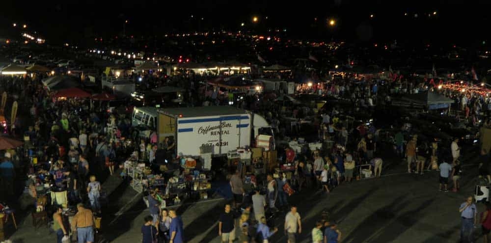 Wheaton Illinois All Night Flea Market August 17