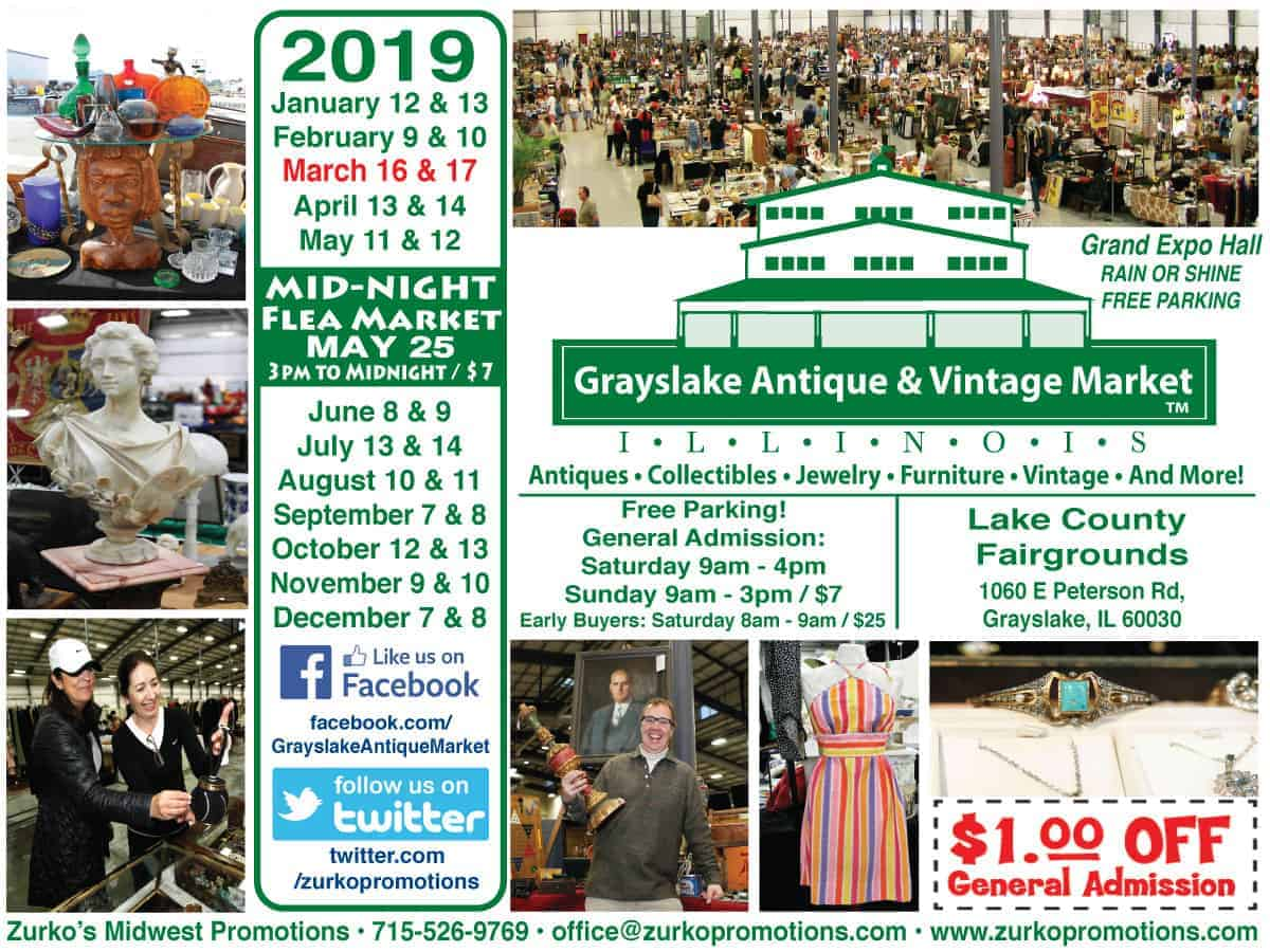 Grayslake Chicago Illinois Antique Vintage Flea Market 2018