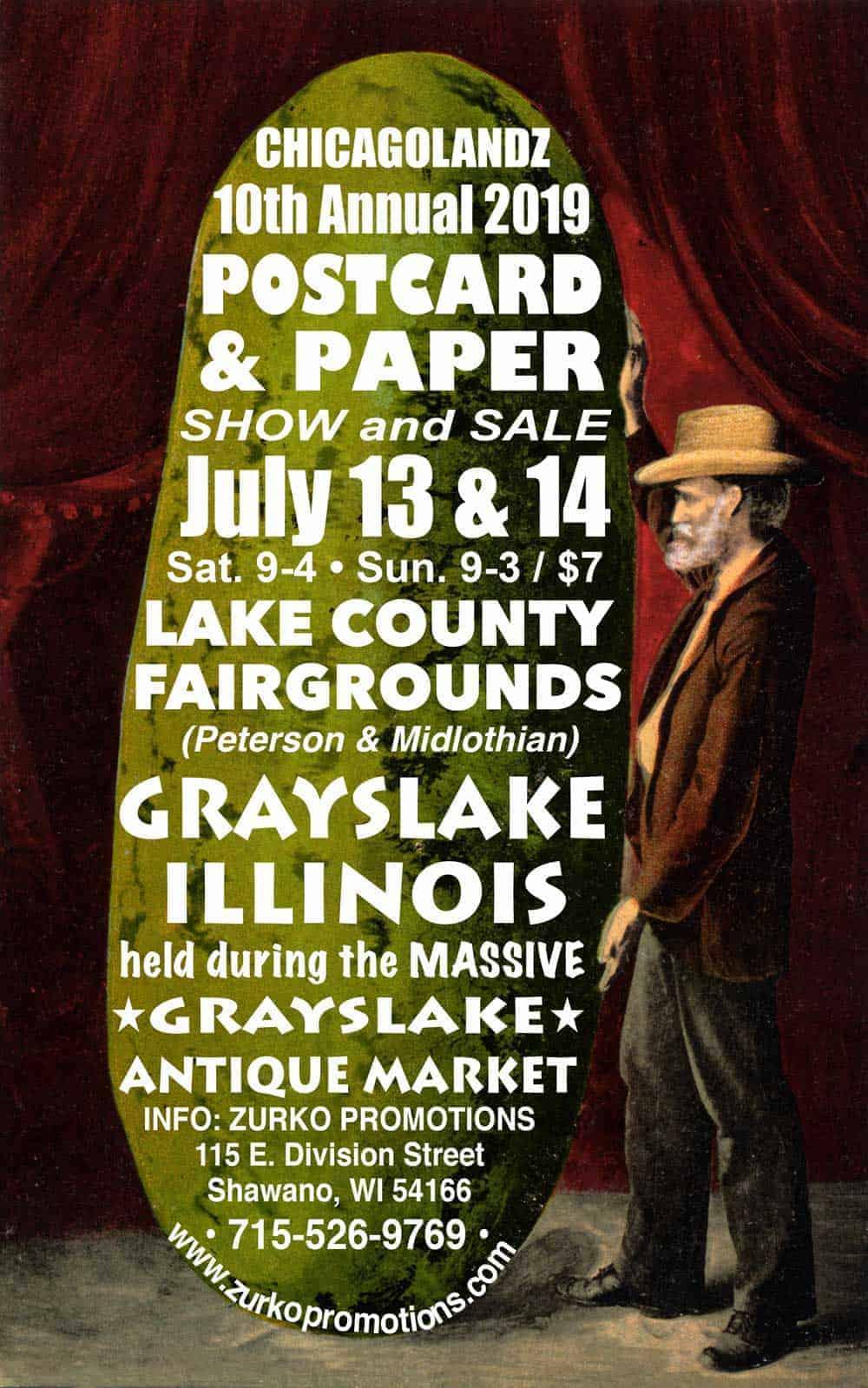 Chicago Grayslake Illinois Antique Vintage Market Postcard and Paper Show