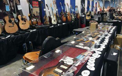 Vintage guitars, vinyl records, and rock memorabilia at Grayslake Antique Market August 10 & 11
