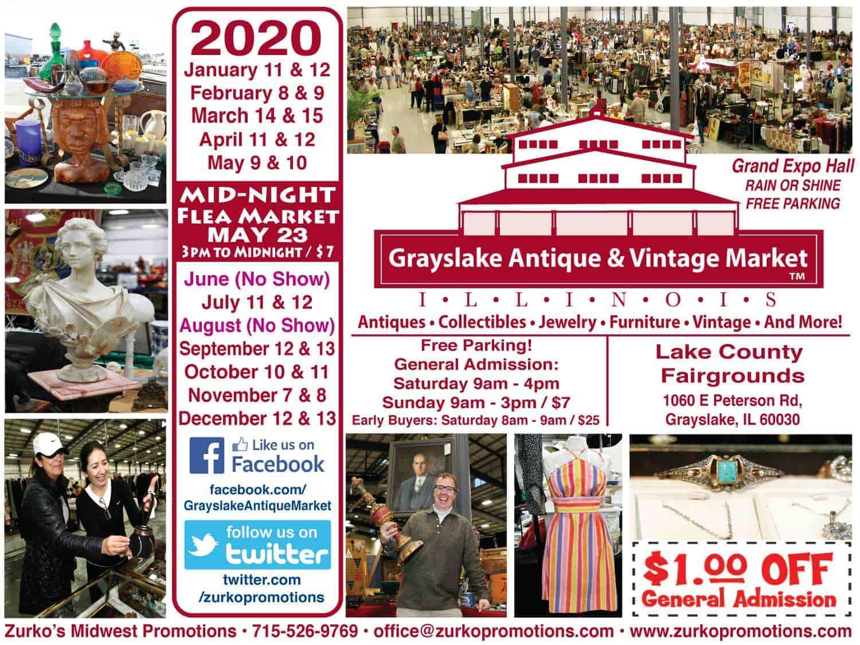 Grayslake Chicago Illinois Antique Vintage Flea Market 2018