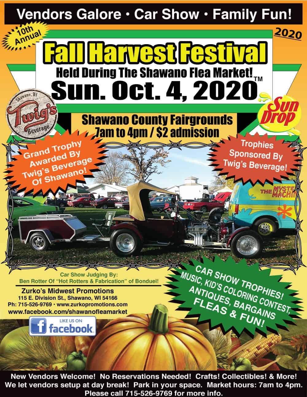 Shawano Wisconsin Car Show October 4, 2020