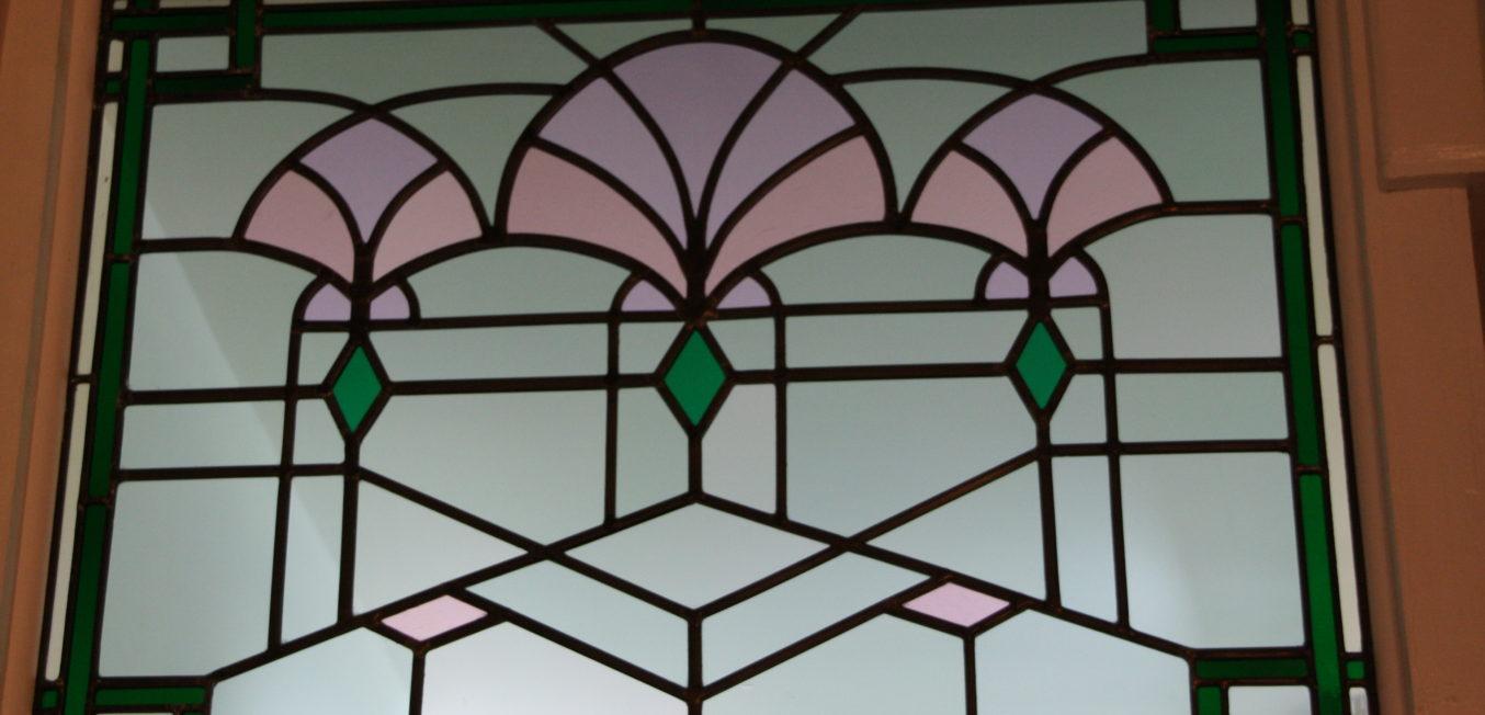 Internal transom window