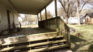 Monkey Island Gray Cabin - back deck