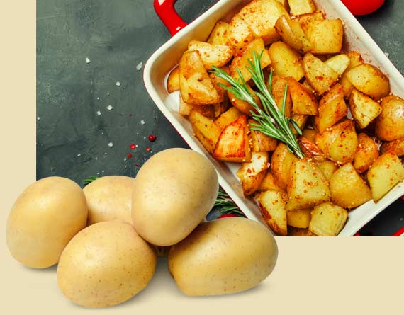 Golden Potatoes Make A Great Dish