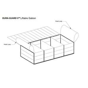 DURA-GUARD™ MARINE MATTRESSES ARE DESIGNED TO BE FILLED IN PLACE OR WITH REINFORCEMENT, FILLED AND LIFTED WITH A CRANE