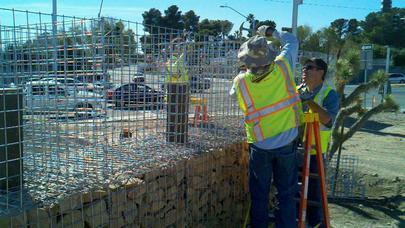 Build a Gabion Fence 6