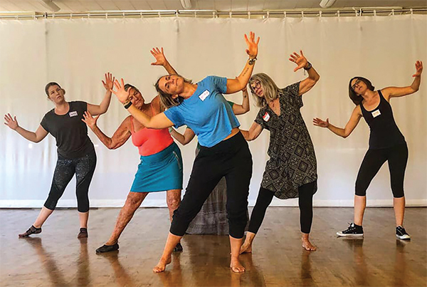 Healing creative movement and dance reconnect body and mind.