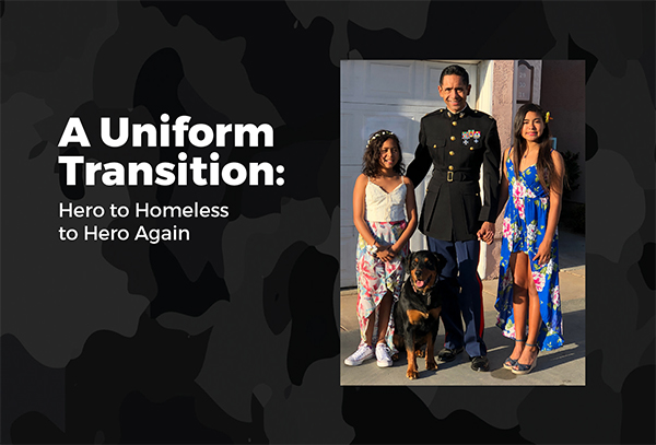 A Uniform Transition: Hero to Homeless to Hero Again