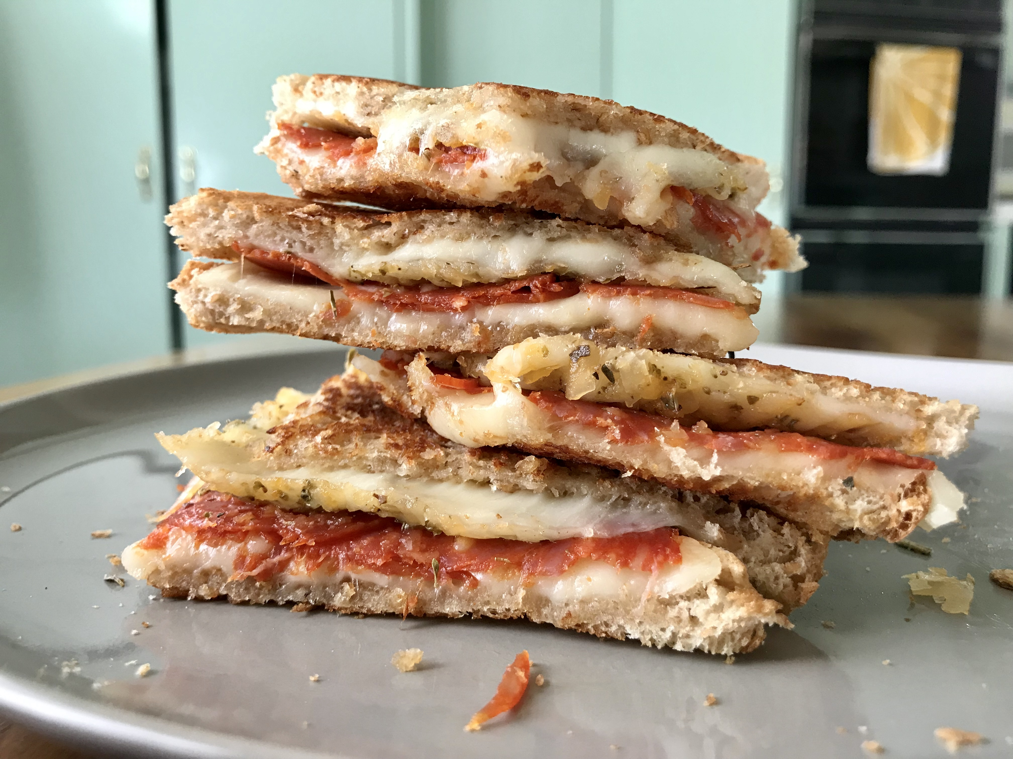 Cannabis Pepperoni Pizza Grilled Cheese