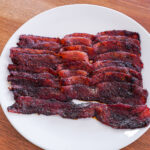 Cannabis Candied Bacon - take your tailgating snacks to a whole new level! | laurengaw.com/lifeabovetheclouds