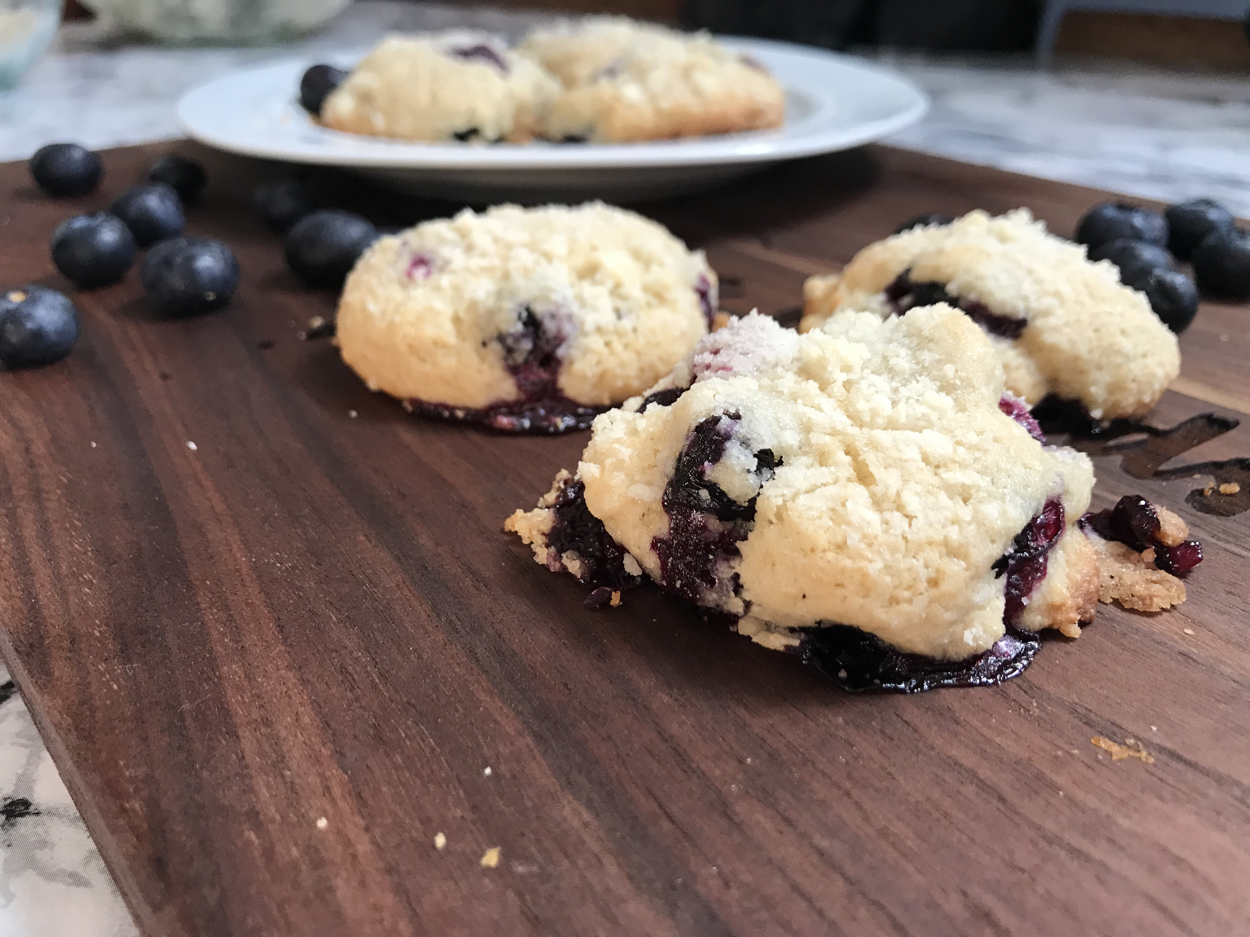 Cannabis Blueberry Muffin Top Cookies