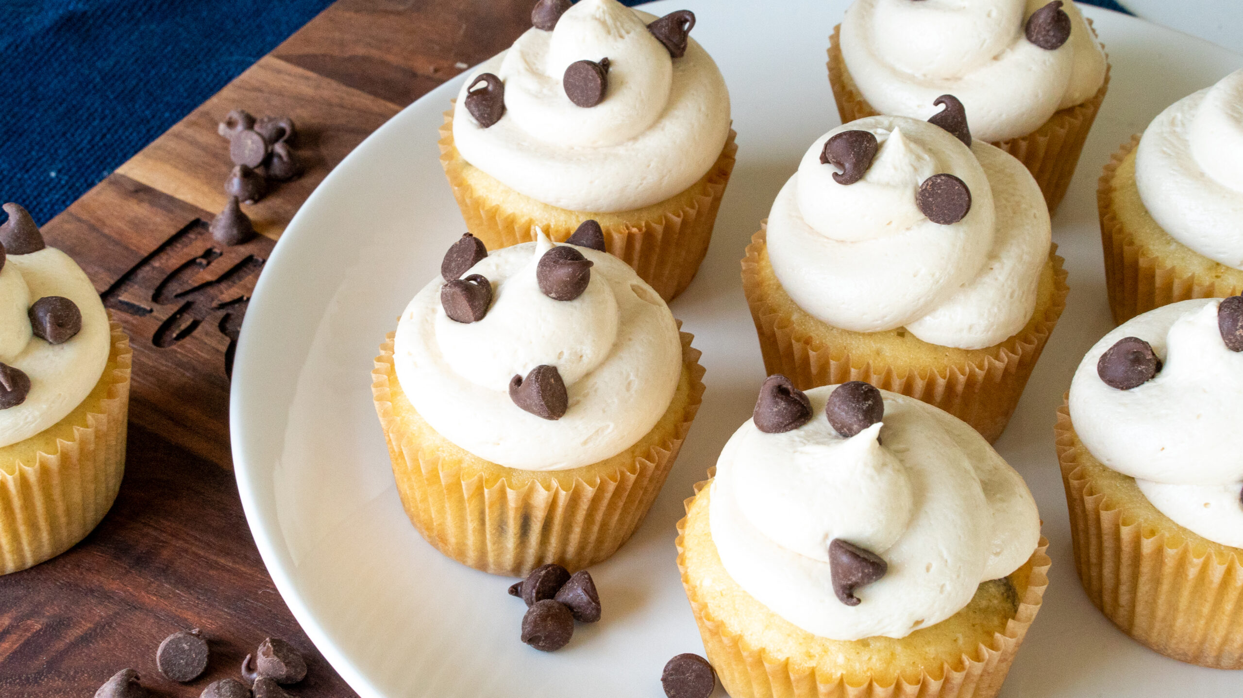 Chocolate Chip Cupcakes with Coffee Frosting