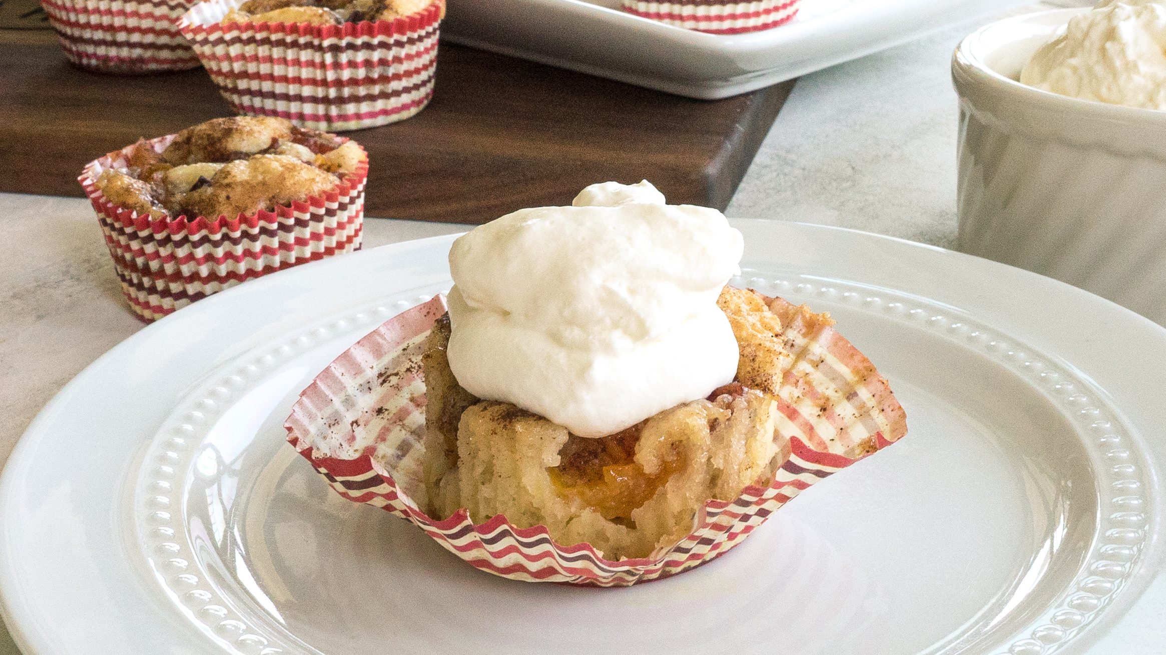 Mini Peach Cobbler
