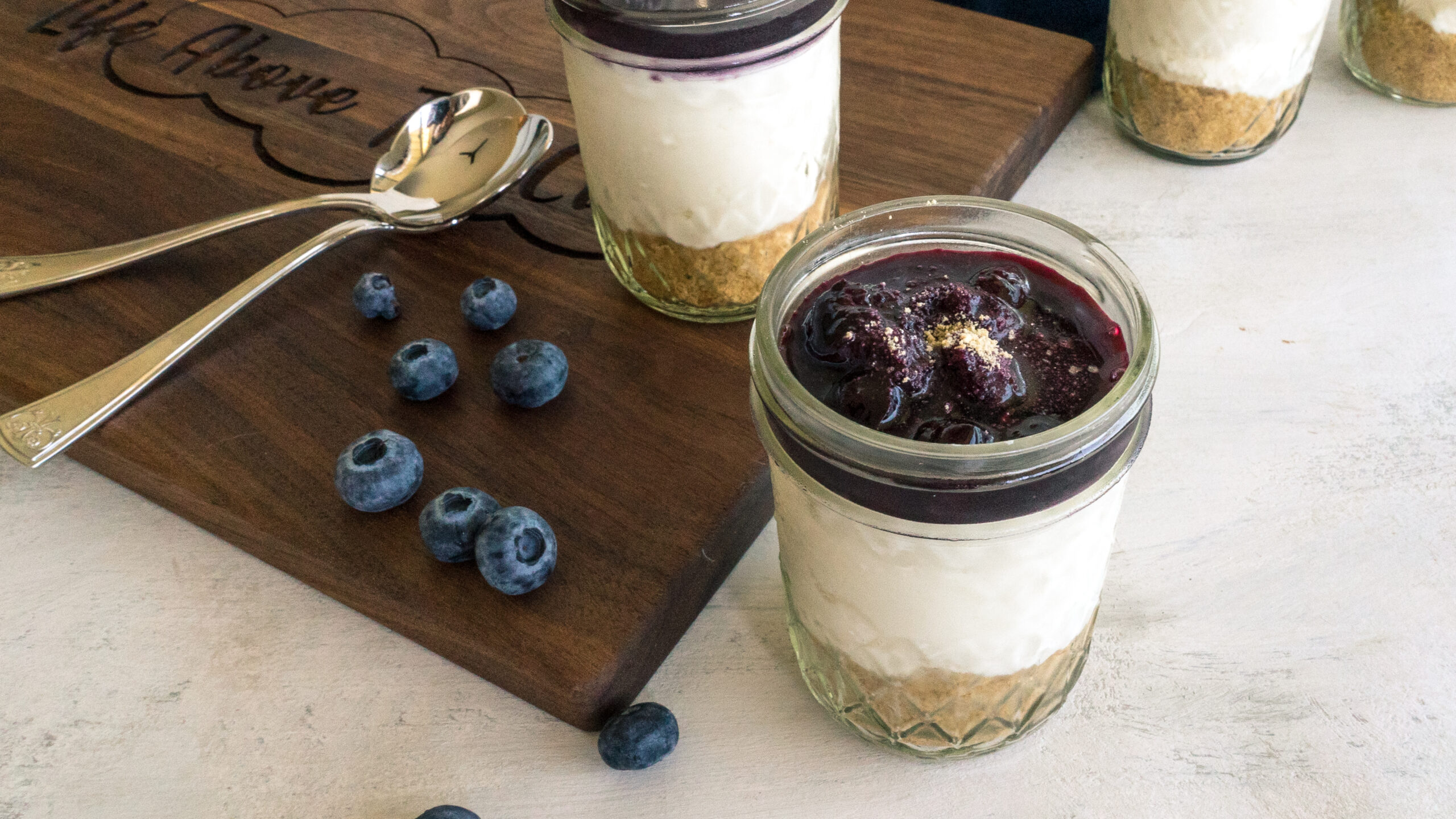No Bake Blueberry Cheesecake Parfait