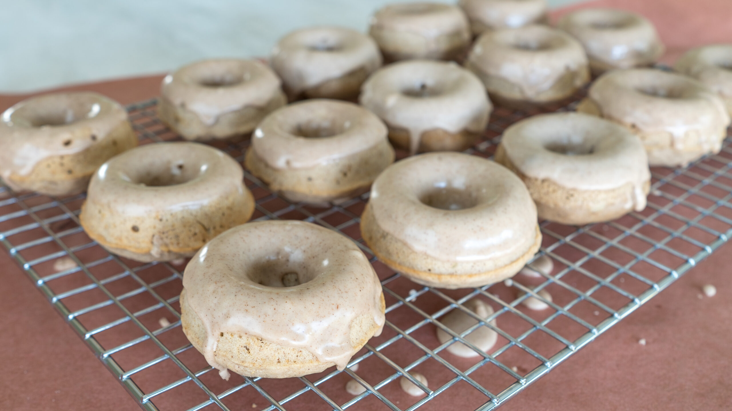 Baked Maple Donuts